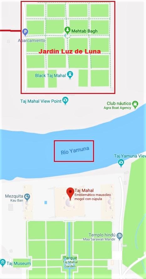 Mapa Taj Mahal 1