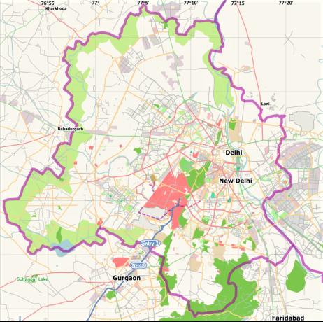 Mapa Delhi